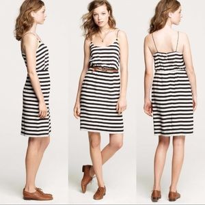 J Crew • striped sun dress blouson spaghetti strap